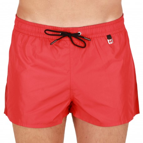 HOM Short de Bain Sunlight Rouge
