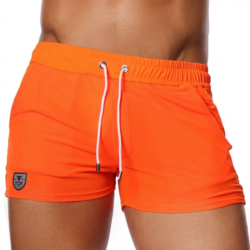 TOF Paris Short Happy Mesh Orange Fluo