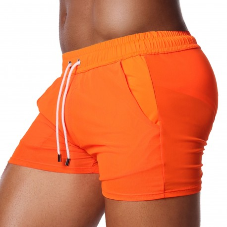 TOF Paris Happy Mesh Shorts - Neon Orange