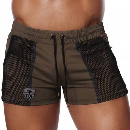 TOF Paris Short de Bain Cruise Kaki