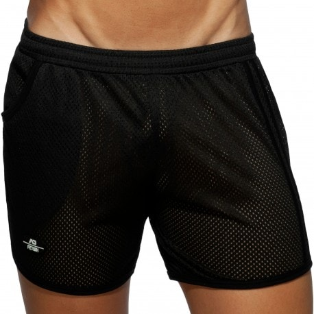 AD Fetish Long Pocket Mesh Rocky Shorts - Black