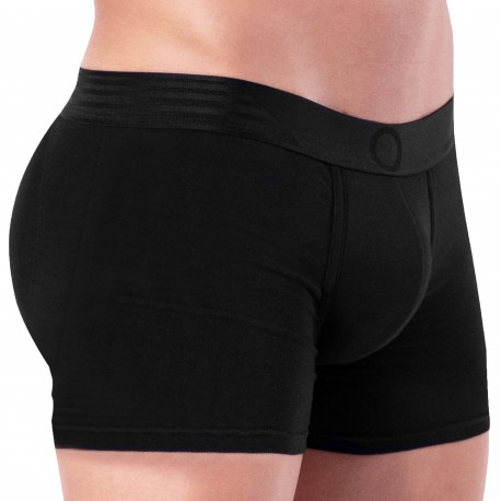 Rounderbum Basic Padded Long Boxer - Black