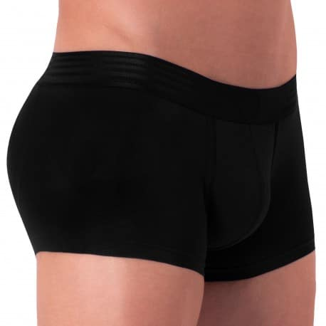 Rounderbum Basic Padded Cotton Trunks - Black