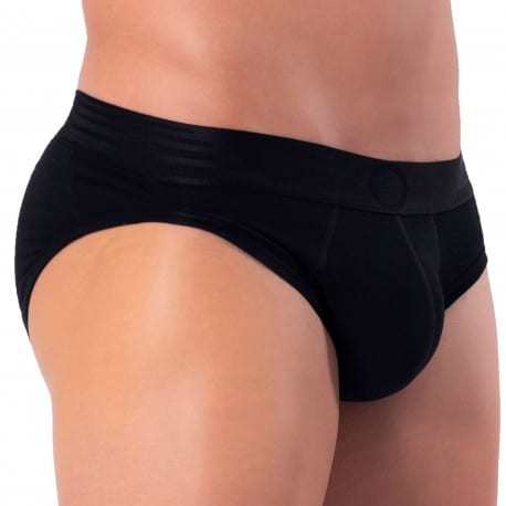 Rounderbum Basic Padded Brief - Black