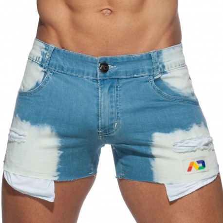 Addicted Pride Jeans Shorts - Indigo Blue