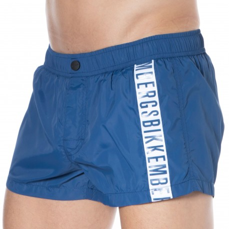 Bikkembergs Short de Bain Tape Bleu Denim