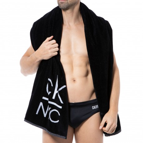 Calvin Klein Ck NYC Beach Towel - Black
