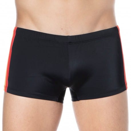 Diesel Rainbow Swim Trunks - Black