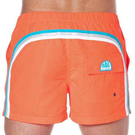 Sundek Short de Bain Rainbow Orange