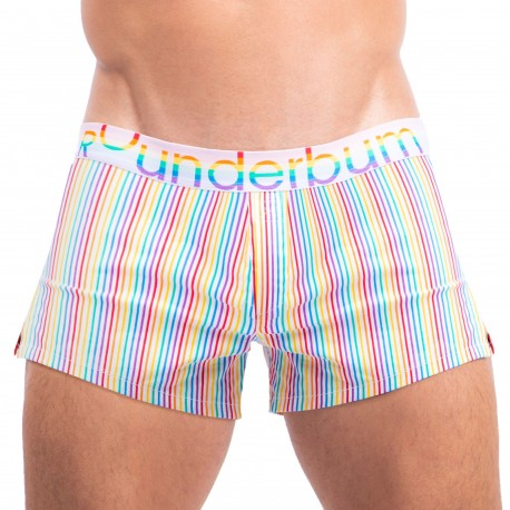 Rounderbum Retro Pride Lift Cotton Boxer Shorts - Multicolor