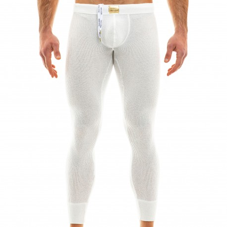 Modus Vivendi Caleçon Long Smooth Knit Blanc Cassé