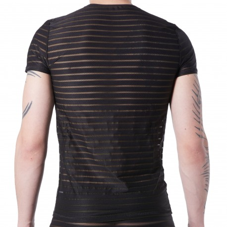 Lookme T-Shirt Transparent Noir