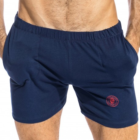 L'Homme invisible Short Freedom Hypnos Bleu Marine