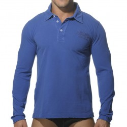 Polo Washed Manches Longues Royal