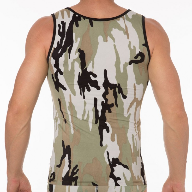 Joe Snyder Débardeur Sheer Camouflage