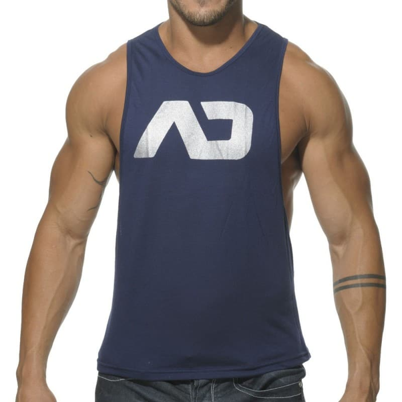 Addicted Disco Tank Top - Navy