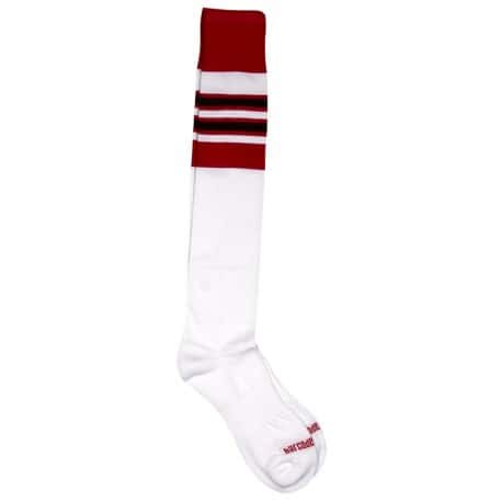 Chaussettes Football - Blanc - Rouge