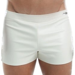 Leather Short - White