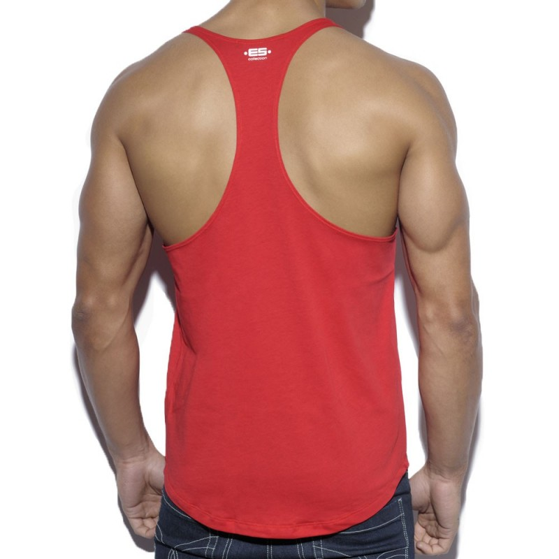 ES Collection Fitness Plain Tank Top - Red
