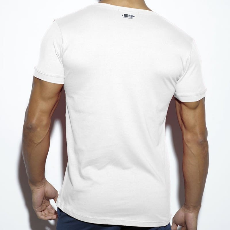 ES Collection T-Shirt Never Back Down Blanc
