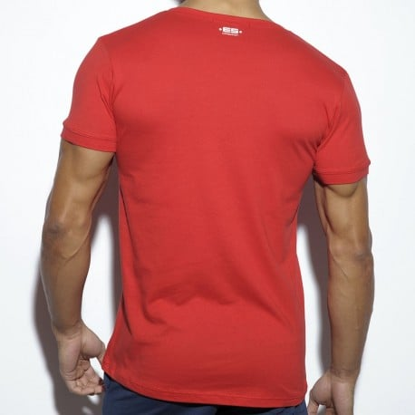 T-Shirt Never Back Down Rouge
