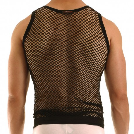 C-Through Tank Top - Black