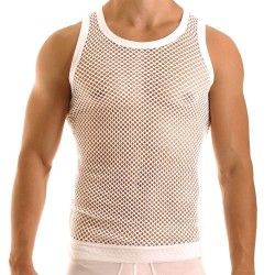 C-Through Tank Top - White
