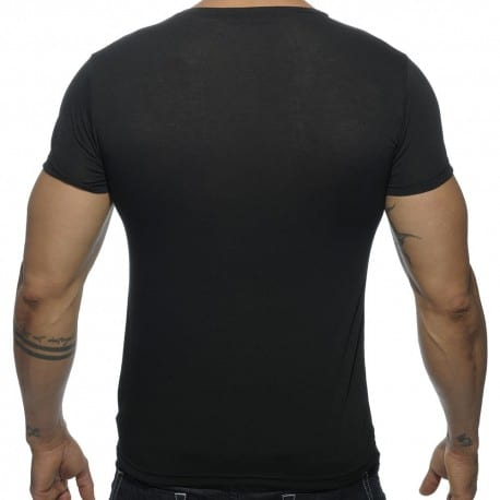 T-Shirt V-Neck Basic Noir