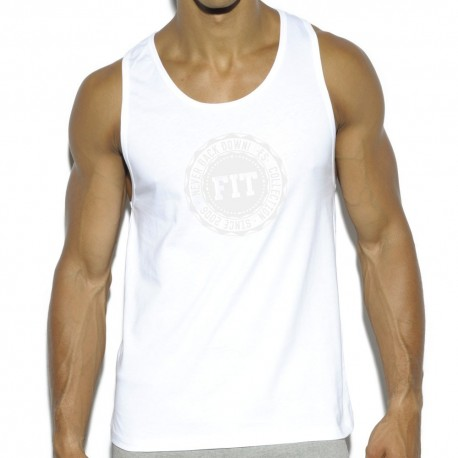 Débardeur Basic Cotton Fit Blanc