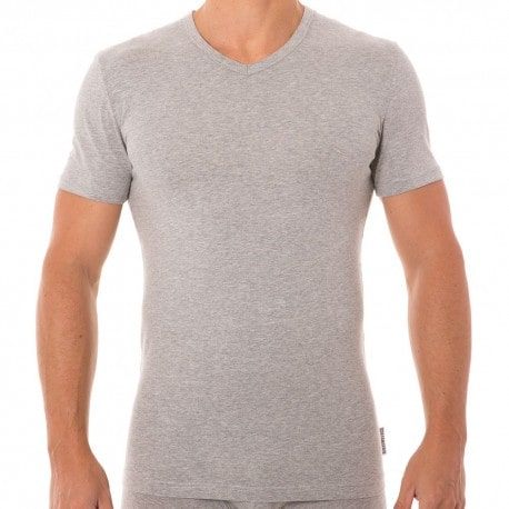 T-Shirt Stretch Cotton Gris