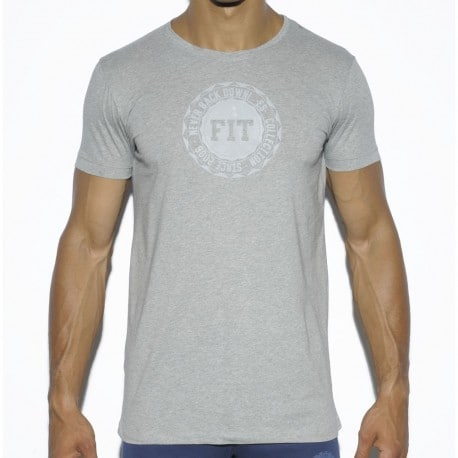 T-Shirt Basic Cotton Fit Gris