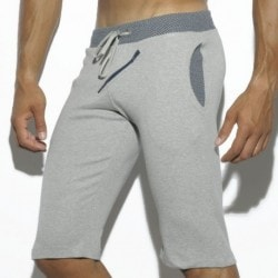 Bird's Eye Knee Pants - Grey