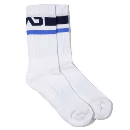 Addicted Chaussettes Basic Sport - Blanc - Marine