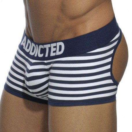 Addicted Basic Colors Empty Bottom Boxer - Navy Sailor