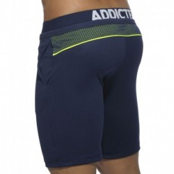 Platinum Detail Knee Pants - Navy