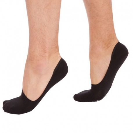 DIM 2-Pack of Invisible Liner Socks - Black