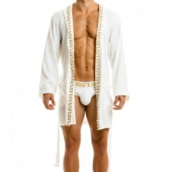 Meander Dressing Gown - White