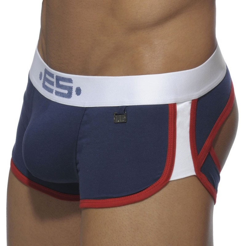ES Collection Shorty Empty Bottom Double Side Marine - Blanc