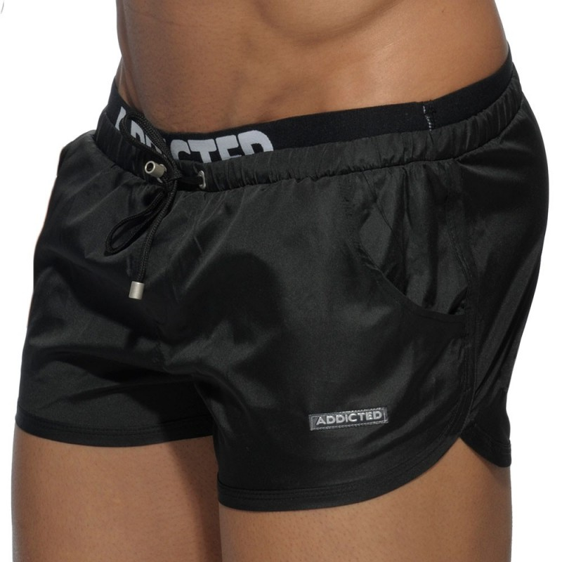 Addicted Short de Bain Double Waistband Noir