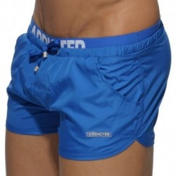 Double Waistband Swim Short - Royal