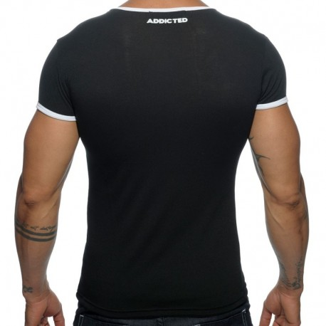 Addicted T-Shirt Basic Colors Noir