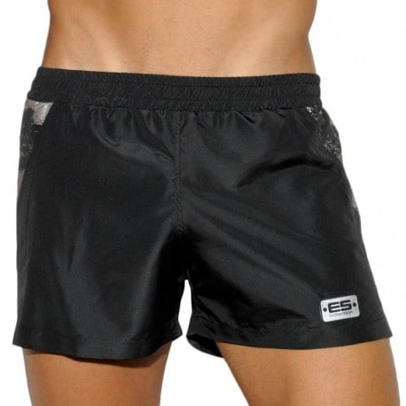 ES Collection Short Tech Metallic Noir