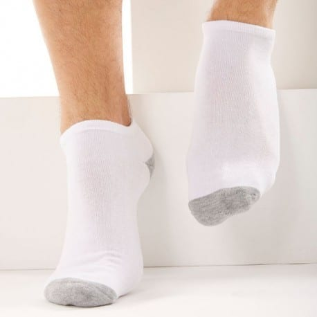 DIM 3-Pack Sports Bobby Socks - White