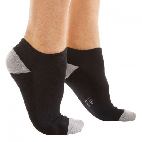 DIM 3-Pack Sports Bobby Socks - Black