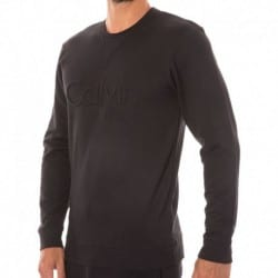 Sweat-Shirt Embroidered Logo Noir
