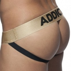 Basic Colors Mesh Jock Strap - Gold