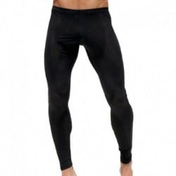 Grid Legging Pants - Black