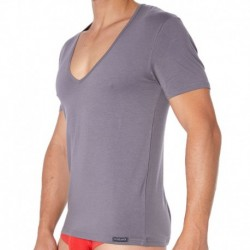 Essential V-Neck T-Shirt - Grey