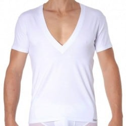 Essential Super Low V-Neck T-Shirt - White