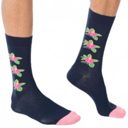 Chaussettes Flowers - Marine
